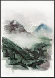 <p>Småskogarna - akvarell på akvarellpapper, 28 x 21 cm. 2013.</p>