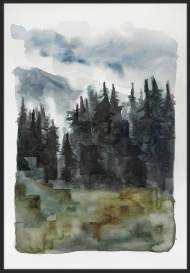 <p>Flytande gräs - akvarell på akvarellpapper, 28 x 21 cm. 2013.</p>