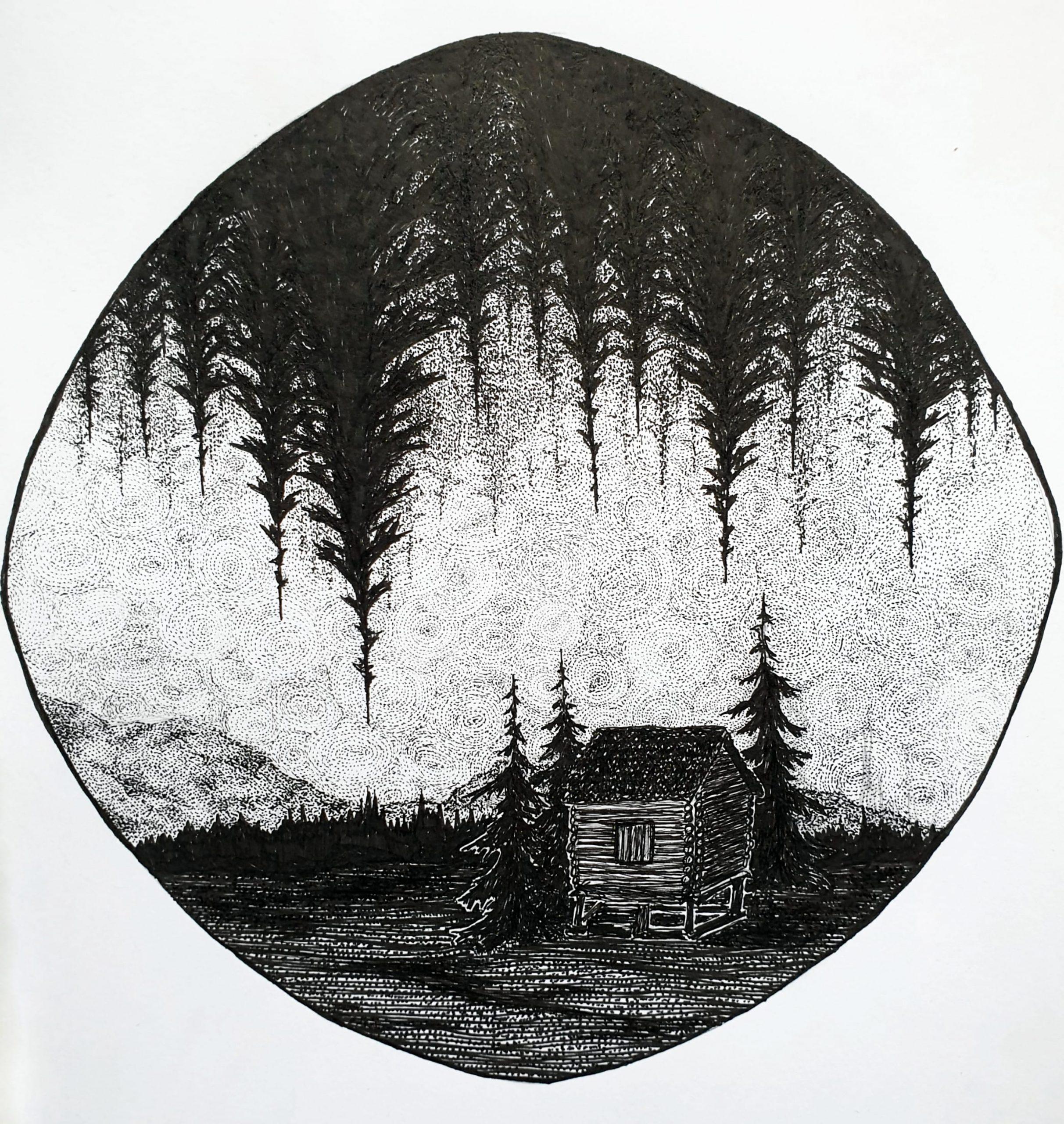 Skogsdröm, A4, 450 kr.
